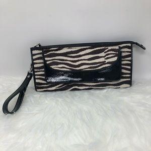 Zebra print Clutch/Wristlet